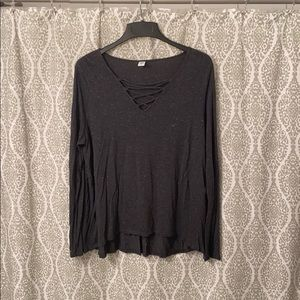 Old Navy Criss Cross Front Long Sleeve